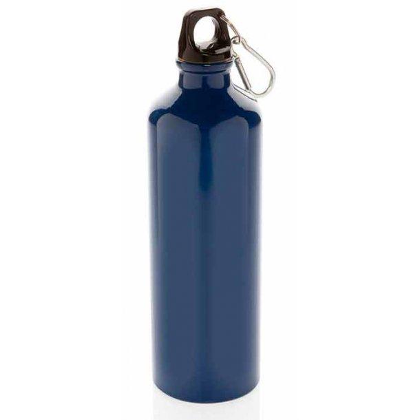 Drikkedunk i aluminium m/karabin - 750 ml.