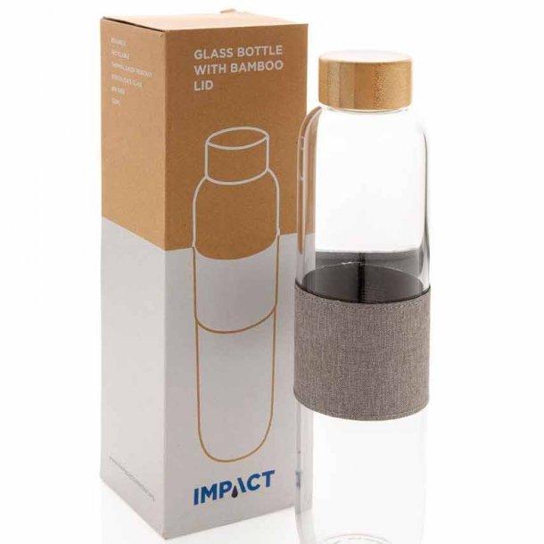 Impact drikkeflaske med bambus låg - 750 ml.