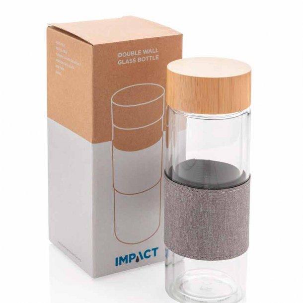 Impact dobbeltvægget glasflaske - 360 ml.