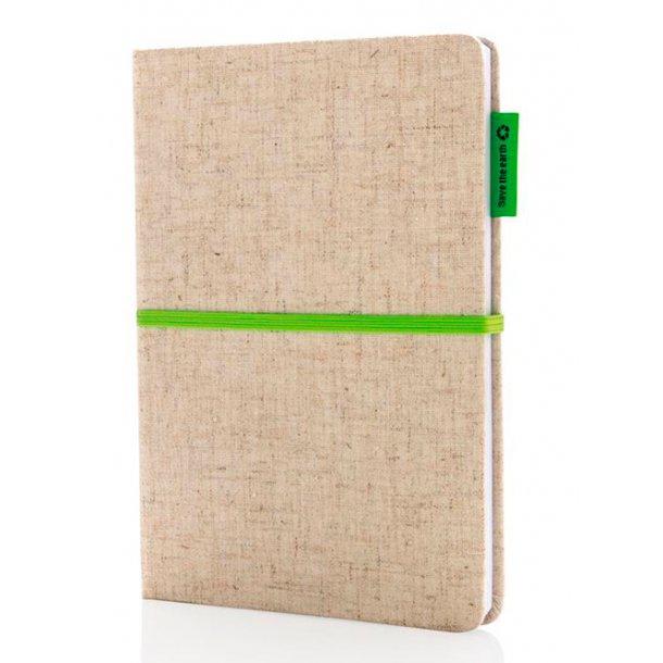 A5 økologisk jutebomuld notesbog