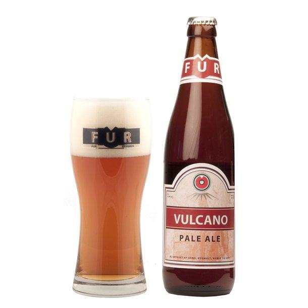 Vulcano øl med egen etikette fra FUR Bryghus
